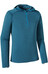 Patagonia M's Capilene Thermal Weight Zip-Neck Hoody Smolder Blue - Electron Blue X-Dye
